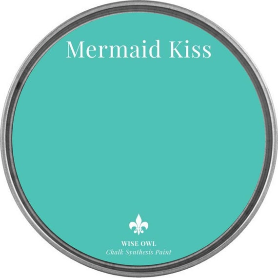 INTRO SALE - Mermaid Kiss  (Ocean Turquoise) - Wise Owl Chalk Synthesis Paint - low flat shipping