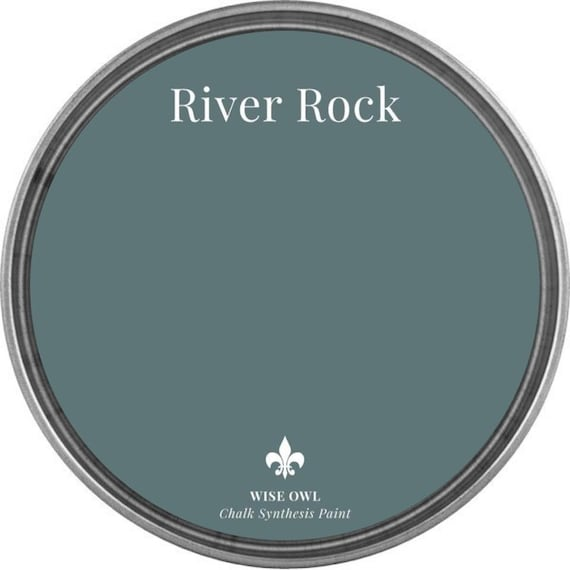 INTRO SALE - River Rock (Cool Blue Gray) - Wise Owl Chalk Synthesis Paint - low flat shipping