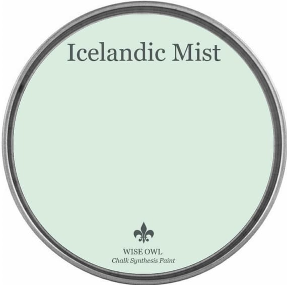 Icelandic Mist (Pastel Green-Blue) - Wise Owl Chalk Synthesis Paint - FREE SHIPPING