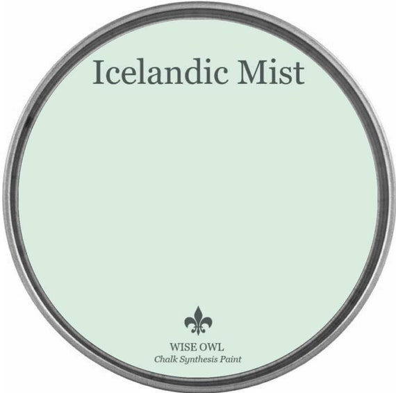INTRO SALE - Icelandic Mist (Pastel Green-Blue) - Wise Owl Chalk Synthesis Paint - low flat shipping