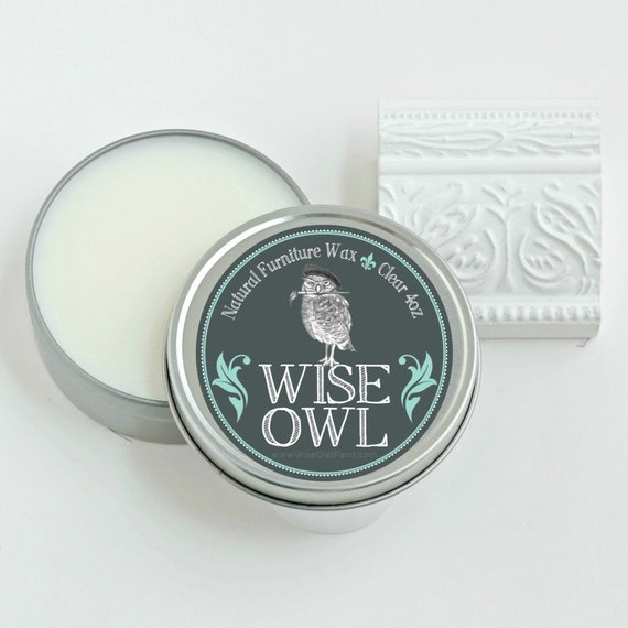 4 Ounce Wise Owl Natural Furniture Wax - Clear - low flat rate shipping