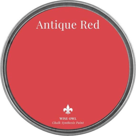 INTRO SALE - Antique Red - Wise Owl Chalk Synthesis Paint - low flat shipping