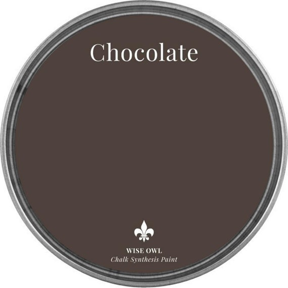 INTRO SALE - Chocolate (True Medium Brown) - Wise Owl Chalk Synthesis Paint - low flat shipping
