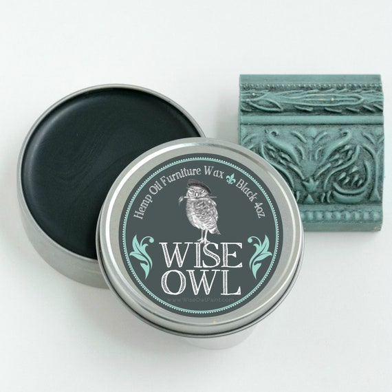 4 Ounce Wise Owl Natural Hemp Oil Furniture Wax - Black - low flat rate shipping