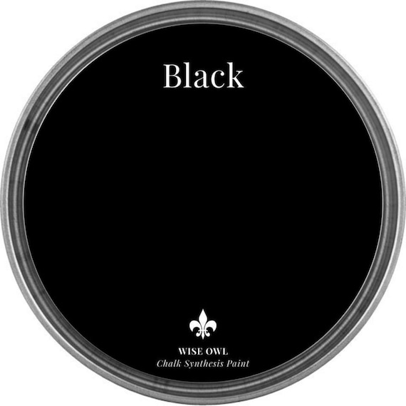 INTRO SALE - Black - Wise Owl Chalk Synthesis Paint - low flat shipping