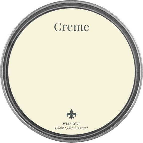 INTRO SALE - Crème (French Cream White) - Wise Owl Chalk Synthesis Paint - low flat shipping