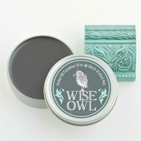 Wise Owl Natural Hemp Oil Furniture Wax - Black Walknut - low flat rate shipping
