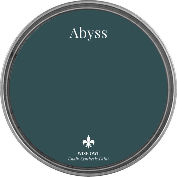 INTRO SALE - Abyss (Deep Blue Green) - Wise Owl Chalk Synthesis Paint - low flat shipping