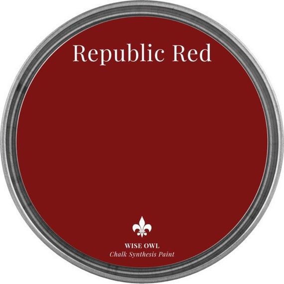 INTRO SALE - Republic Red (Deep Red) - Wise Owl Chalk Synthesis Paint - low flat shipping