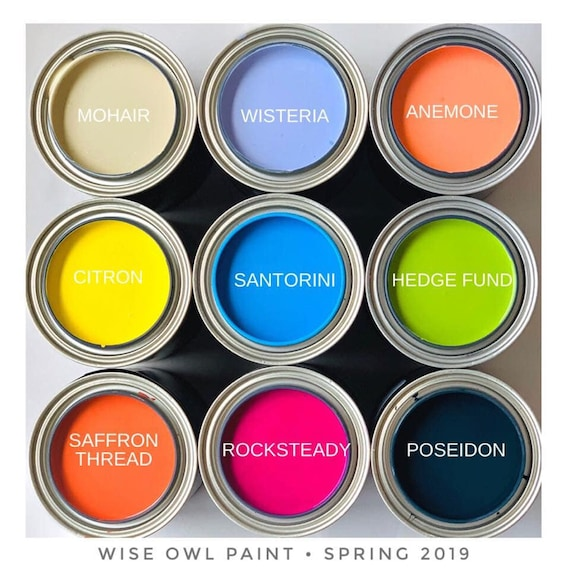Intro Sale! Wise Owl Chalk Synthesis Paint - Limited Edition Spring/Summer 2019 Seasonal Colors - low flat shipping