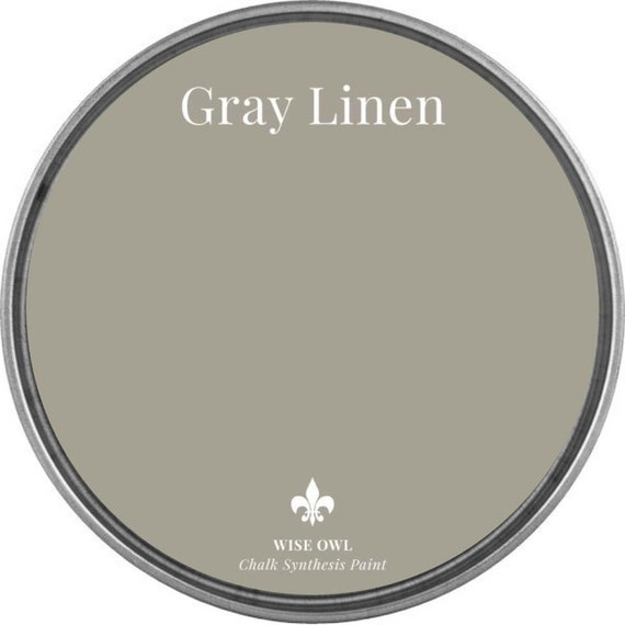 Gray Linen (Gray Beige) - Wise Owl Chalk Synthesis Paint  - FREE SHIPPING