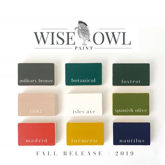 Wise Owl Chalk Synthesis Paint - Limited Edition Fall 2019 Seasonal Colors - Quart - FREE SHIPPING
