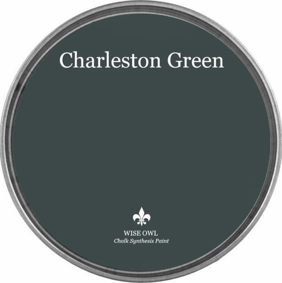 INTRO SALE - Charleston Green (Dark Black-Green) - Wise Owl Chalk Synthesis Paint - low flat shipping
