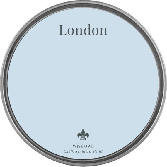 INTRO SALE - London  (Pale Light Blue) - Wise Owl Chalk Synthesis Paint - low flat shipping