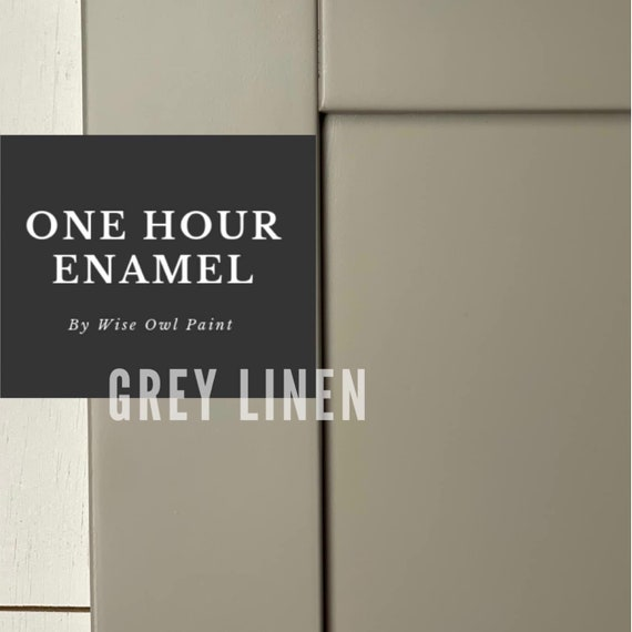 INTRO SALE! Gray Linen (Cool Beige) Wise Owl One Hour Enamel Paint - low flat shipping