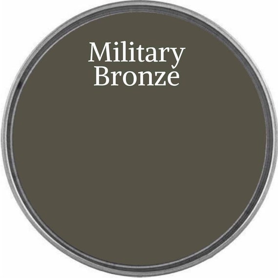 INTRO SALE - Military Bronze (Brown with Green Undertones) - Wise Owl Chalk Synthesis Paint - low flat shipping