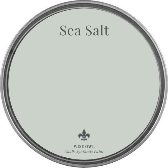 INTRO SALE - Sea Salt (Light Seafoam Gray) - Wise Owl Chalk Synthesis Paint - low flat shipping