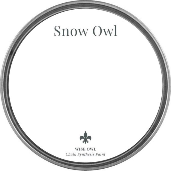 INTRO SALE - Snow Owl (Bright White) - Wise Owl Chalk Synthesis Paint - low flat shipping