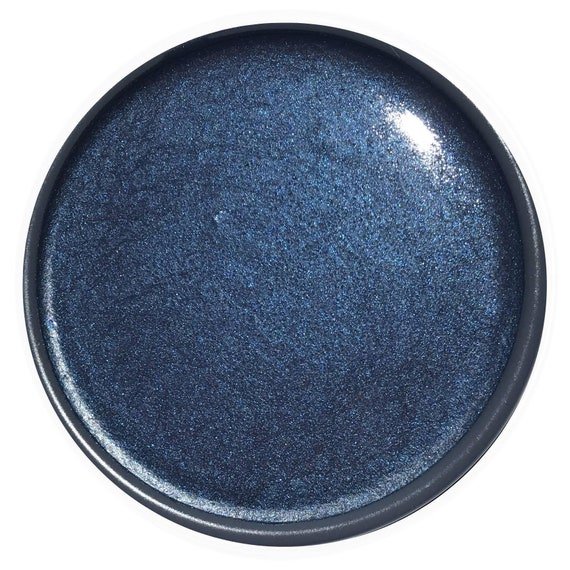 INTRO SALE - Metallic Dark Star Glaze - Wise Owl Chalk Synthesis Paint - low flat shipping