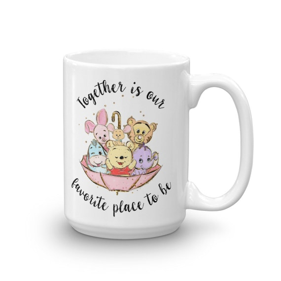 Together is Our Favorite Place to Be - Illustrated Pooh Inspired Inspirational Family Mug