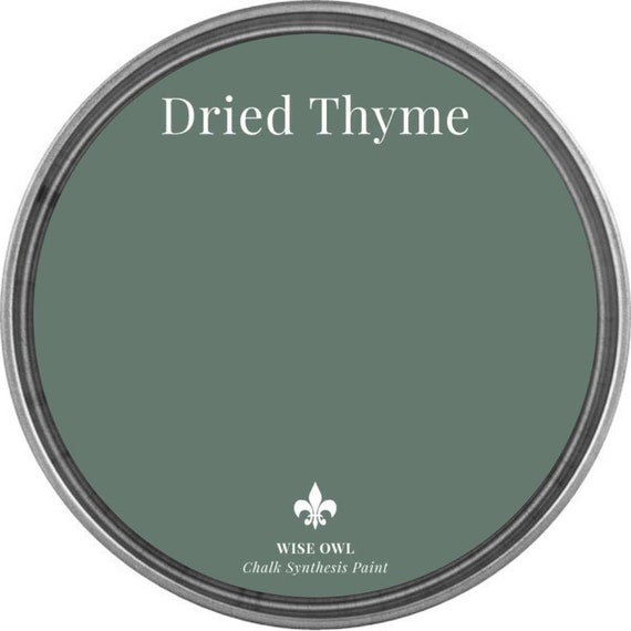 Dried Thyme (Dark Sage Green) - Wise Owl Chalk Synthesis Paint - FREE SHIPPING