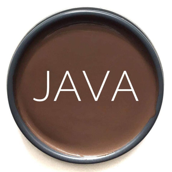 Java (Chocolate Brown) Glaze - Wise Owl Chalk Synthesis Paint - FREE SHIPPING