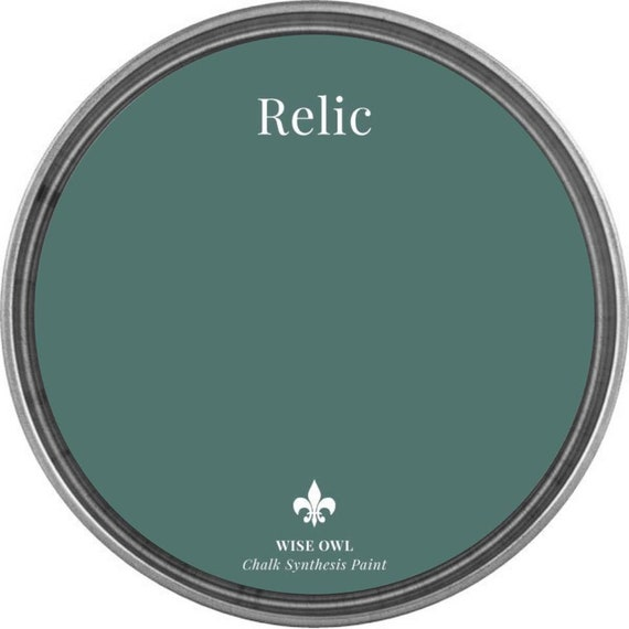 INTRO SALE - Relic (Medium Green Blue) - Wise Owl Chalk Synthesis Paint - low flat shipping