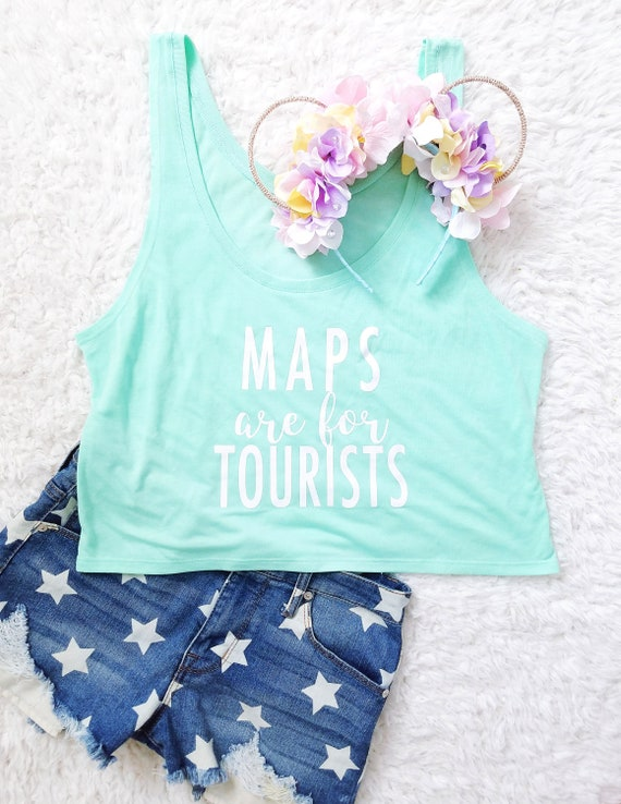 SALE - Maps are for Tourists - Mint Boxy Tank Top