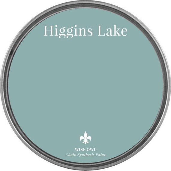 INTRO SALE - Higgins Lake (Medium Blue with Turquoise Undertones) - Wise Owl Chalk Synthesis Paint - low flat shipping