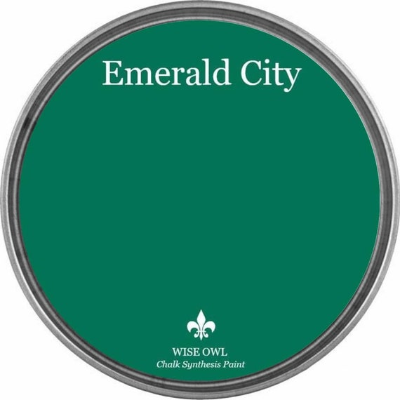 INTRO SALE - Emerald City (Emerald Green) - Wise Owl Chalk Synthesis Paint - low flat shipping