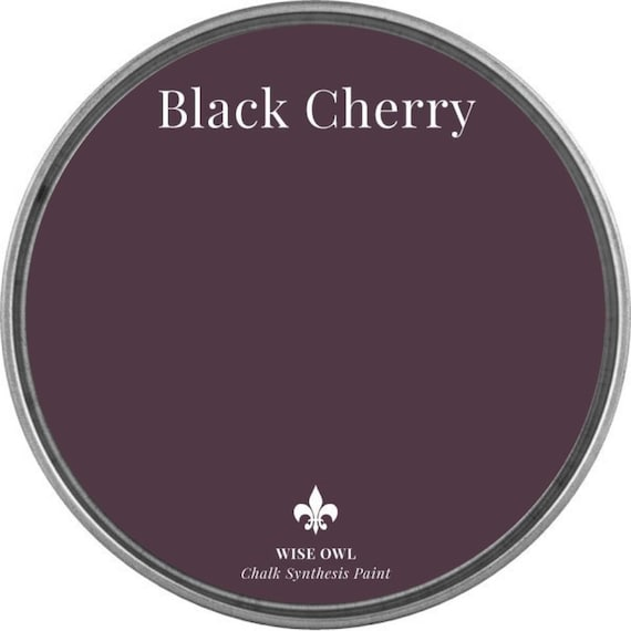Black Cherry (Deep Red or Plum) - Wise Owl Chalk Synthesis Paint - FREE SHIPPING