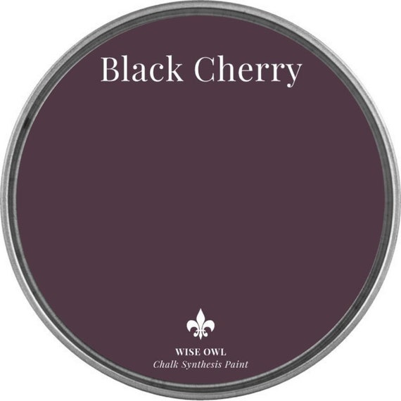 INTRO SALE - Black Cherry (Deep Red or Plum) - Wise Owl Chalk Synthesis Paint - low flat shipping