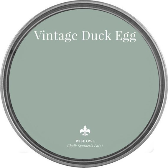 INTRO SALE - Vintage Duck Egg (Gray Blue-Green) - Wise Owl Chalk Synthesis Paint - low flat shipping