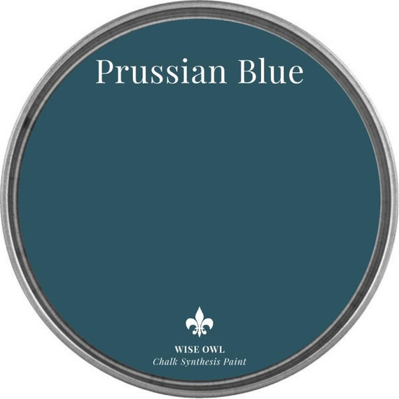 INTRO SALE - Prussian Blue (Deep Blue Green) - Wise Owl Chalk Synthesis Paint - low flat shipping
