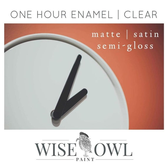 NEW! Wise Owl Clear One Hour Enamel Top Coat - Satin, Matte, Semi Gloss
