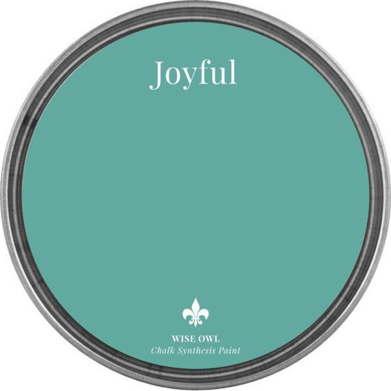 INTRO SALE - Joyful (Turquoise) - Wise Owl Chalk Synthesis Paint - low flat shipping