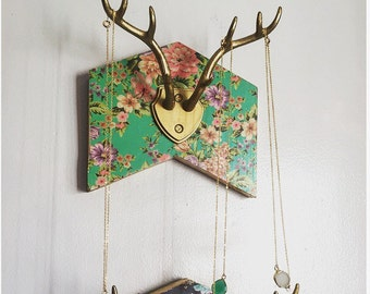 Chevron Jewelry Holder, Antler jewelry hanger, jewelry hanger, jewelry holder, jewelry storage, bohemian jewelry