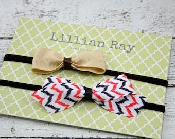 Fall Colored Nylon Bow Headbands