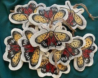 Spotted Lantern Fly Ceramic Hanging Ornament, Trivet, Coaster -lanternfly