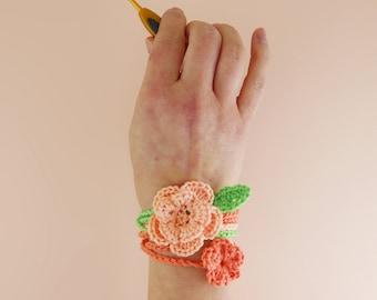 Floral Wrist Wraps - Quick Crochet Pattern