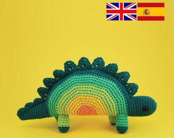 Horace el Estegosaurio amigurumi patrón