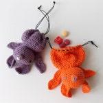 Lexie The Bat - Amigurumi Goodie Bag Crochet Pattern PDF