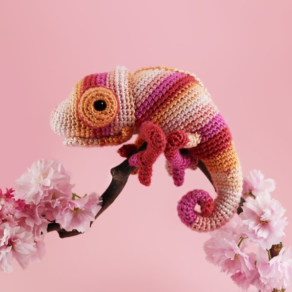 Crochet a Chameleon Amigurumi With Amazing Eyes … This is a Must ... | 570x570