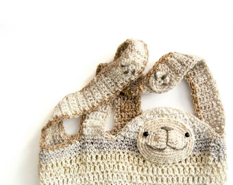 Cedric The Sloth - Crochet Shopper Pattern