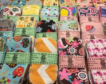 GO UNPAPER: MamaBear Reusable Cloth Wipes - 52 count - Replace All the Paper in Your House!