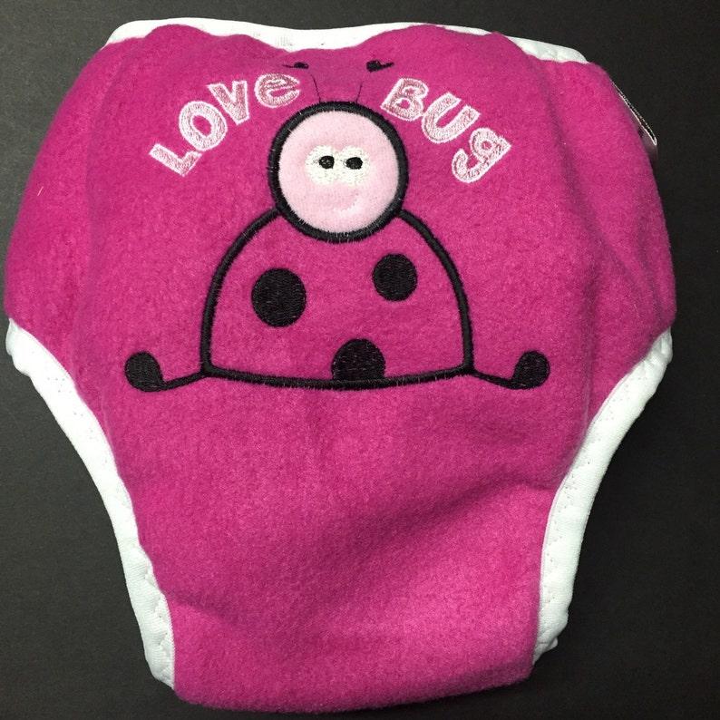 One Size fits Most MamaBear Waterproof Fleece Training Pants Love Bug