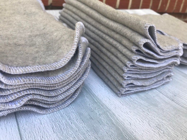 Large FLEECE  Wash Wipes X 10 NEUTRAL