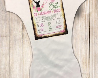 MamaBear BabyWear Waterproof Diaper Cover, Swim Diaper, Wrap or All In Two - One Size Fits All - Personalized Birth Stats
