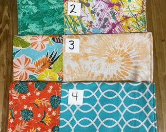 MamaBear Medium Pad Wallet, Diaper Clutch, wipes pouch, wet bag - Bright Fun