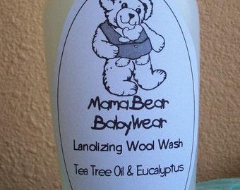 MamaBear Lanolizing Wool Wash For Hand or Machine Washing - 8.5 oz